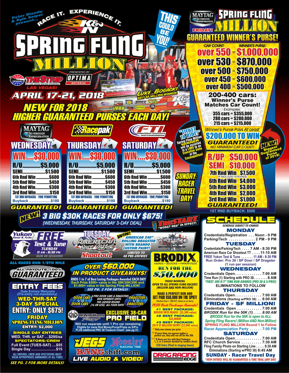 Spring Fling Million Flyer page 1